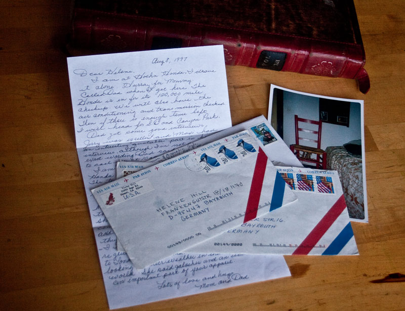 Letters from home- every long term traveler's fondest wish