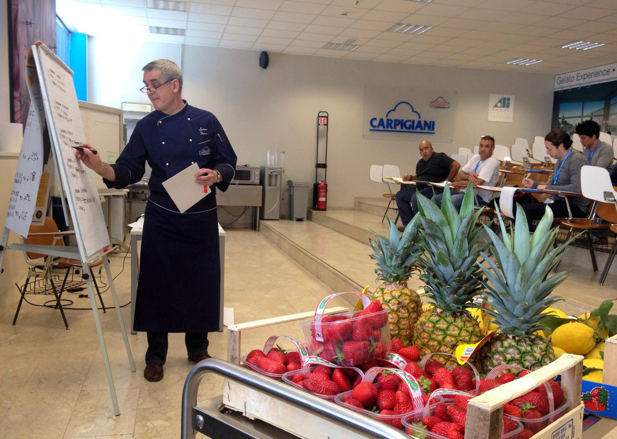 Luciano Ferrari, professor at Gelato University Carpigiani, Bologna Italy