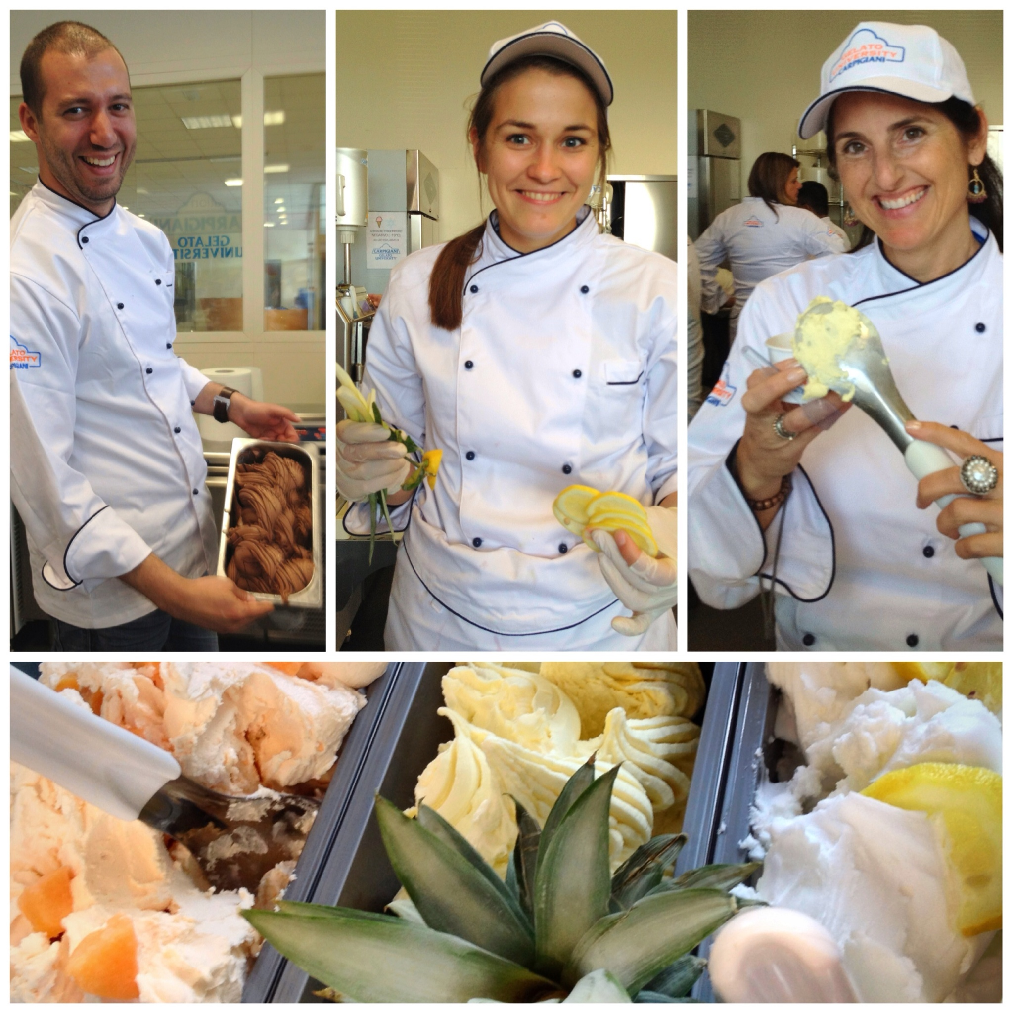 Gelato University students (and @suuperg on the right) master the art of the perfect artisan Gelato