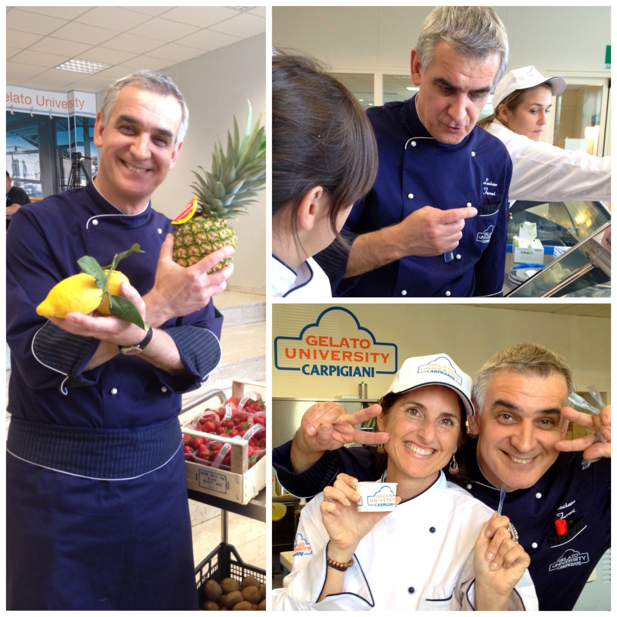 The many moods of Gelato Professor Luciano Ferrari